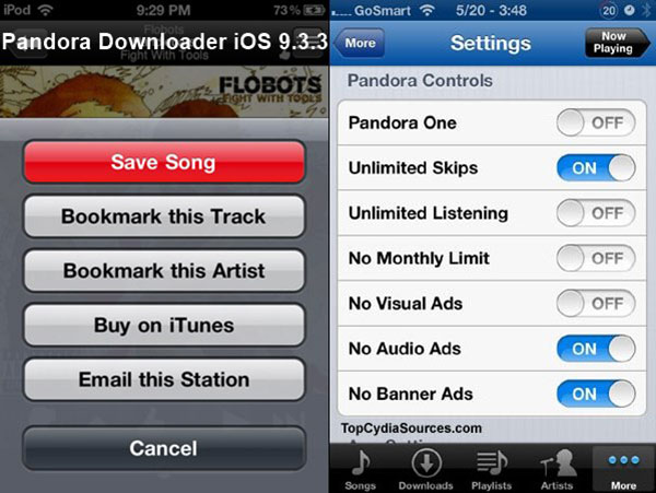Download musik fra Pandora til iDevices