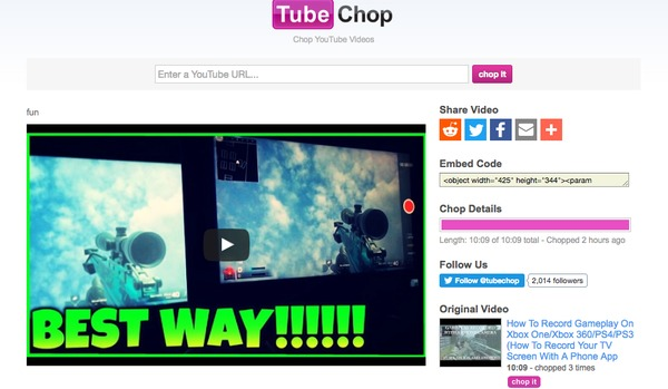 TubeChop