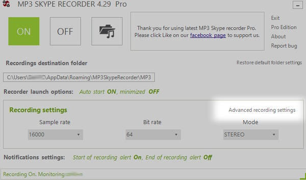 MP3 Skype-inspelare