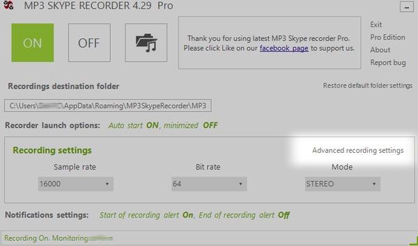 MP3 Skype rekordér