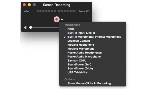 Take screenshot on Mac with QuickTime