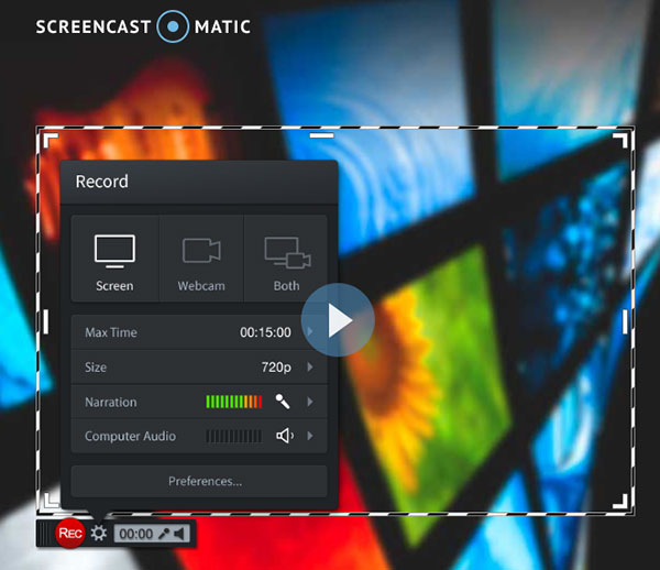 الاستيلاء على شاشة ماك من خلال Screencast-O-Matic