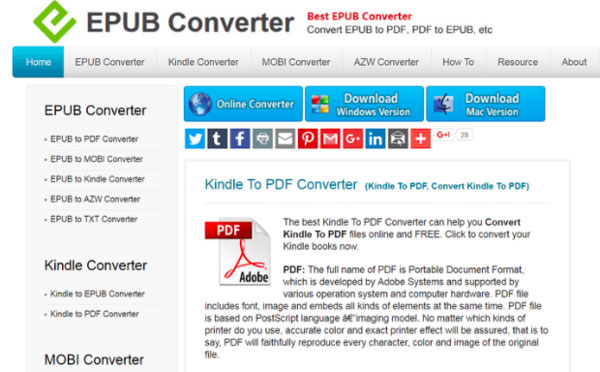 Top 5 Methods to Convert A Kindle eBook to PDF in Online and Offline Way