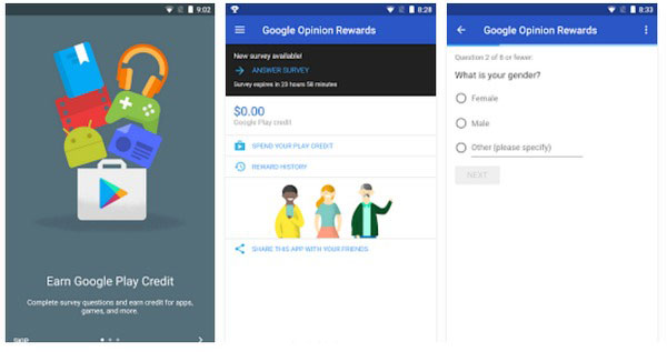 APP di Google Opinion Rewards