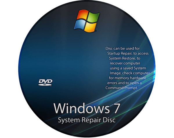 Gendan Windows med reparationsdisk