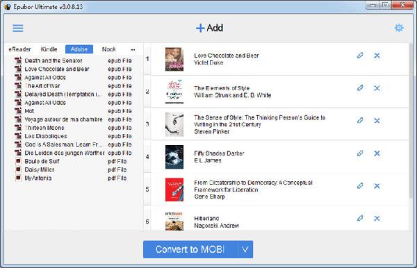 Ouvrez le fichier ACSM sur Kindle