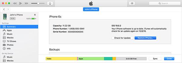 Utilizzando iCloud