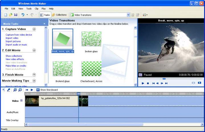 A Windows Movie Maker