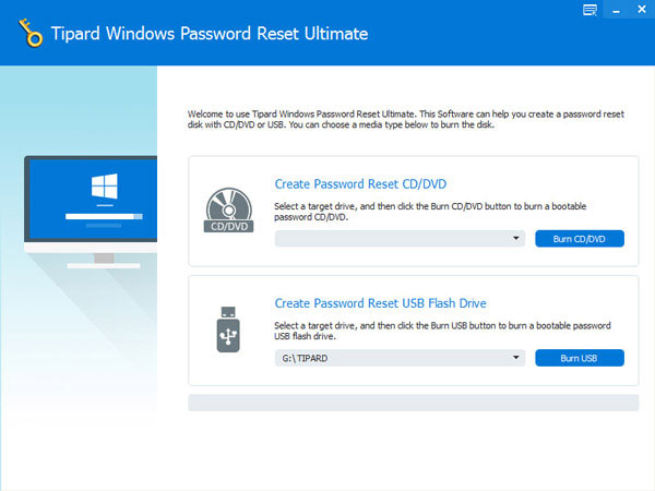 Tipard Windows Password Reset