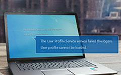 فشل خدمة ملف تعريف المستخدم في تسجيل الدخول