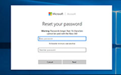 Applications de réinitialisation du mot de passe Microsoft