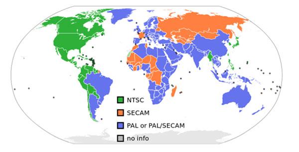 معركة شرسة بين NTSC و PAL