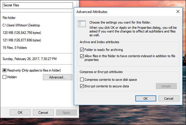 حماية كلمة مرور مجلد على Windows 10