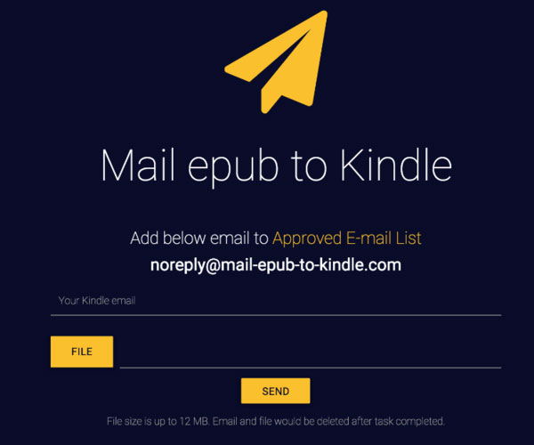 Maila EPUB till Kindle