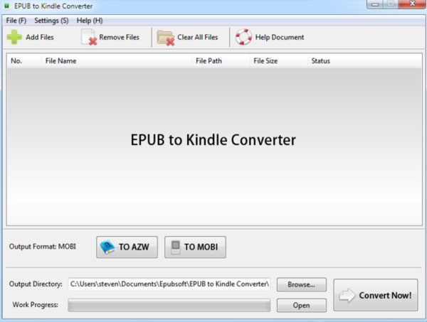 Kindle Converter için EPUB