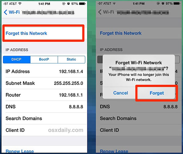 how to get to network settings on iphone
