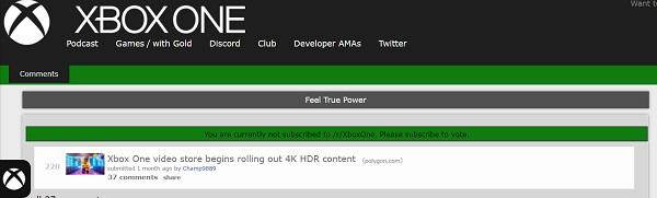 Xbox Oneビデオストア