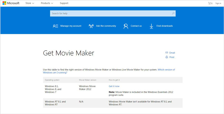احصل على Windows Movie Maker
