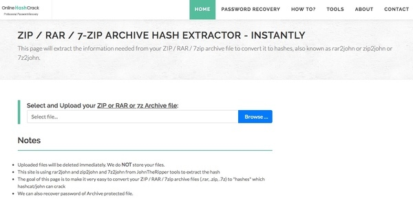 Çevrimiçi Hash Crack