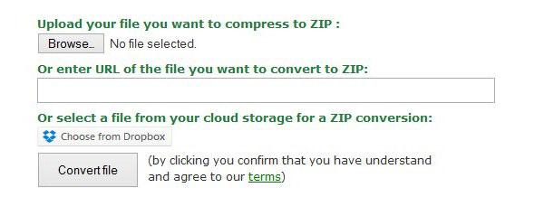 Convertitore Zip online