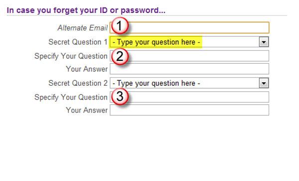 Yahoo-lösenordet återställs med ID