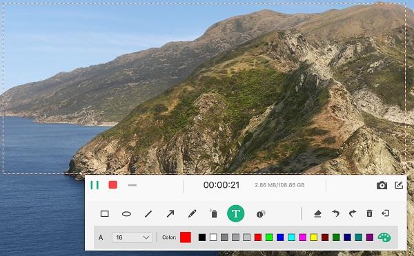 Tipard Screen Capture for Mac full screenshot
