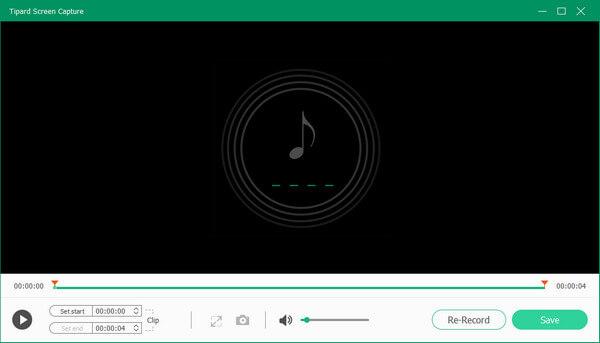 Pré-visualizar áudio capturado