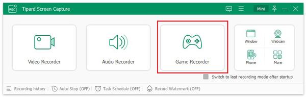 Selecione Game Recorder