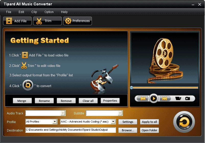 Convert audio among almost all audio formats.