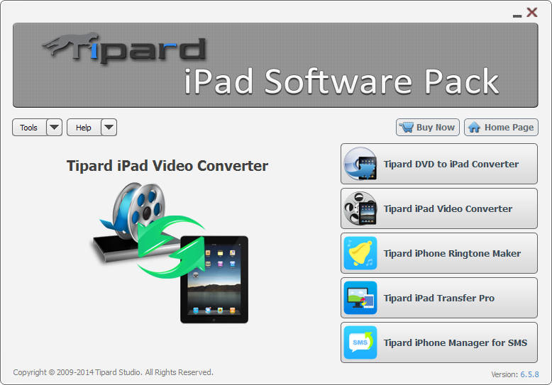 Tipard Blu-ray Converter for Mac – Mac Blu-ray Ripper + Mac DVD Ripper + Mac Video Converter (3-in-1) Ipad-software-pack