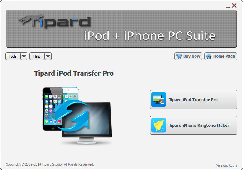 Tipard iPod + iPhone PC Suite screenshot