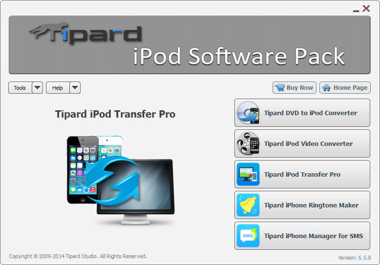 Tipard iPod Software Pack Screen shot