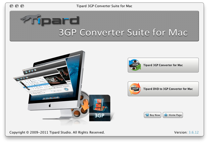 How to Convert Video to AVI/MP4//MP3/WMV/3GP for Mac Users 3gp-converter-suite-for-mac