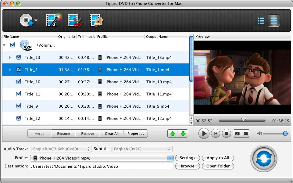 Mac DVD to iPhone, DVD to iPhone, DVD to iPhone Converter for Mac, iPhone Conver