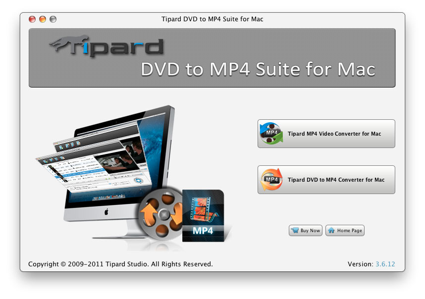 Tipard DVD to MP4 Suite for Mac Screen shot