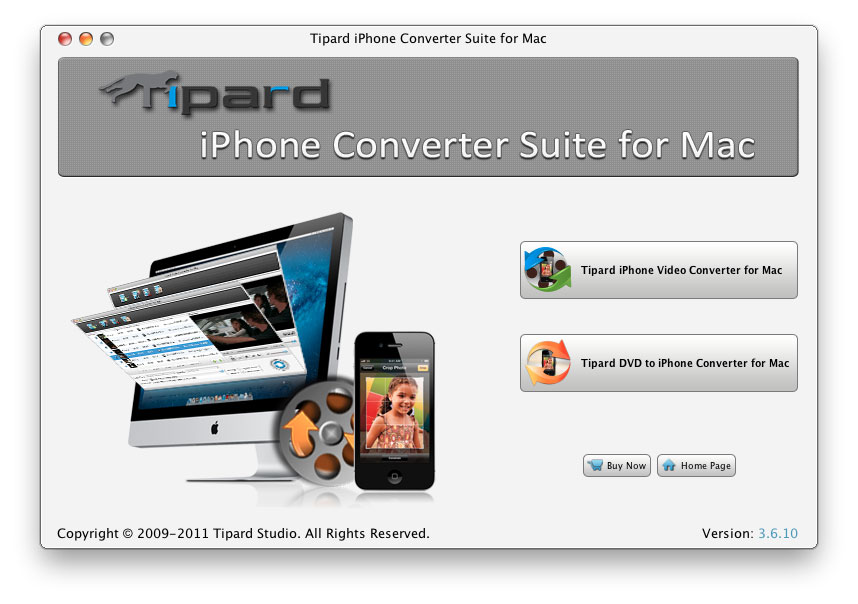 Tipard iPhone Converter Suite for Mac Screen shot