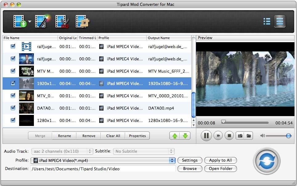 Tipard Mod Converter for Mac 4.0.62 full