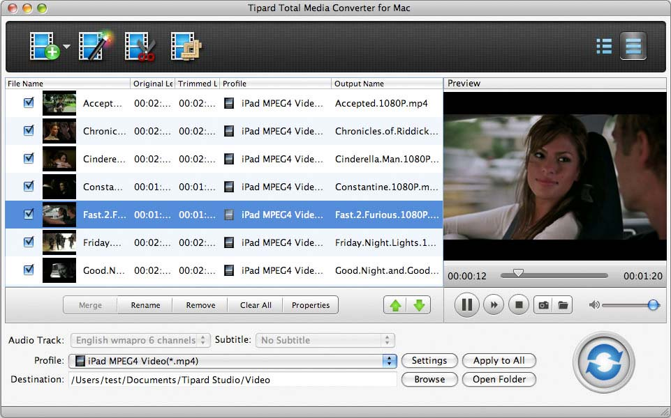 Tipard Total Media Converter for Mac screenshot