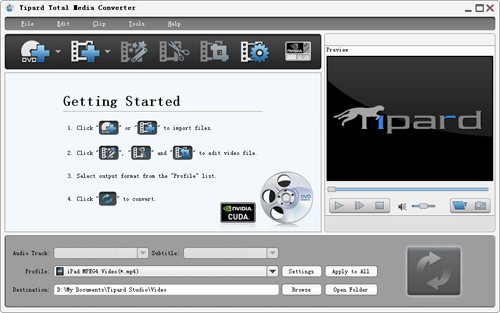 Easily and Fast Rip and Convert DVD and Video With Total Media Converter Initial-interface