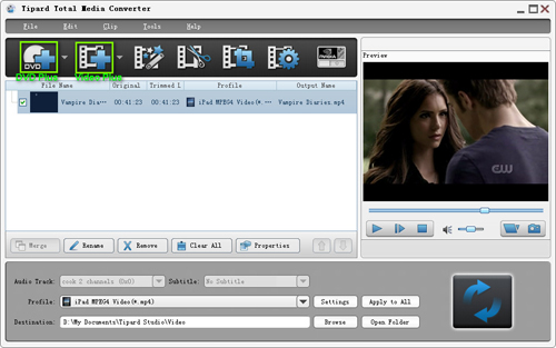 A Professional Software Toolkit to Rip DVD/Video and transfer files for iPod Load-dvd-video