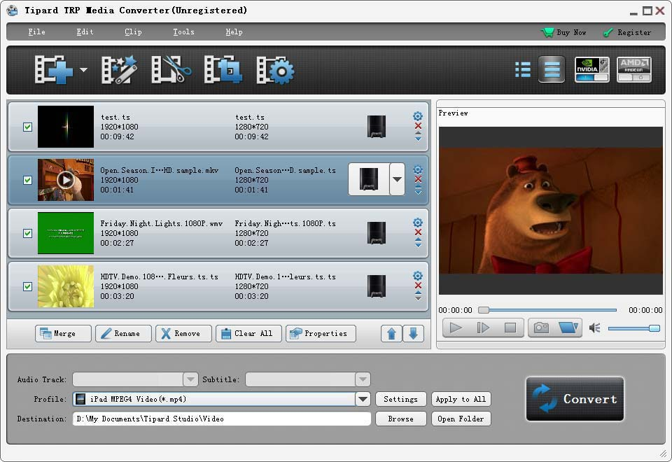 Click to view Tipard TRP Media Converter screenshots