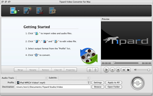 How to Convert Video to AVI/MP4//MP3/WMV/3GP for Mac Users Initial-interface