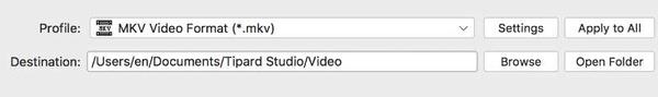 Konwertuj WMV na MKV na Macu