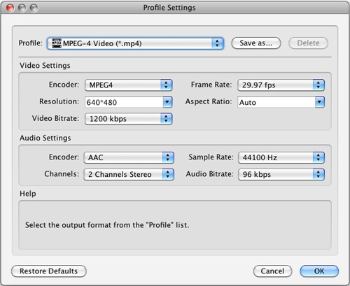 Best Video Converter and Video Converter for Mac Settings-mpeg