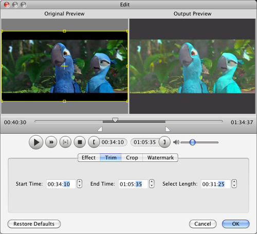 How to Convert Video to AVI/MP4//MP3/WMV/3GP for Mac Users Trim