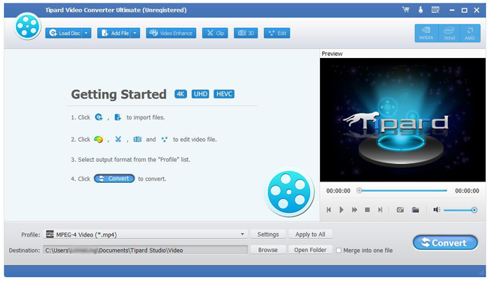 Hämta och installera Tipard HD Video Converter