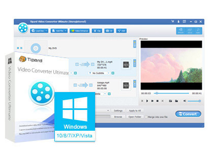 برنامج تحميل وتحويل الفيديوهات Tipard Video Converter Ultimate 9.0.30 بوابة 2016 interface.jpg