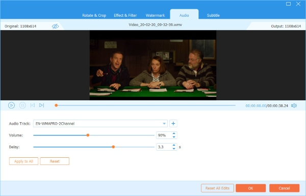 Video Converter Ultimateオーディオ