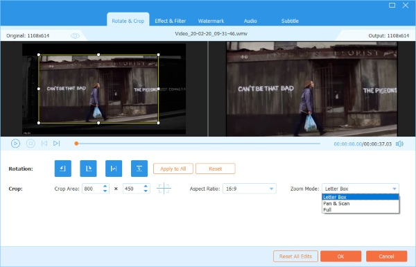 Video Converter Ritaglio finale