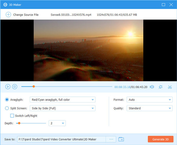 Video Converter Ultimate Genera video 3D